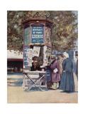 A Kiosque, Paris Giclee Print by Mortimer Ludington Menpes