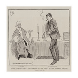 Scene from the Farce, The Burglar and the Judge, at the Haymarket Theatre Giclee Print by Phil May