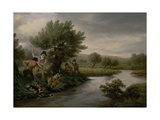 Spearing the Otter, 1805 Giclee Print by Philip Reinagle