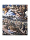Fall of Giants or Jupiter Hurling Thunderbolts at Rebellious Giants Giclée-Druck von Perino Del Vaga