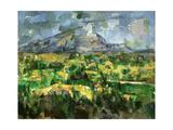 Mont Sainte-Victoire, C.1902 Reproduction procédé giclée par Paul Cézanne