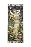 Poster for Show of Dancer Liane De Pougy (1869-1950) at Folies Bergere Giclee Print by Paul Berthon