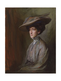 Mrs. Herbert Asquith, Later Countess of Oxford and Asquith, 1909 Giclée-tryk af Philip Alexius De Laszlo