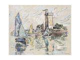 View of the Harbour at Les Sables-D'Olonne (Black Chalk with Watercolour on Tissue Paper Giclee Print by Paul Signac