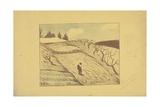 La Fin Du Jour (The End of the Day) 1893 Gicléetryck av Paul Serusier