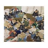 36 Poets, Painting on Paper by Ogata Korin (1658-1716), Japan, Edo Period, 17th-18th Century Reproduction procédé giclée par Ogata Korin