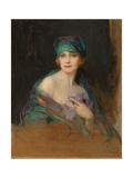 Portrait of Princess Ruspoli, Duchess De Gramont (1888-1976), 1922 Giclée-tryk af Philip Alexius De Laszlo