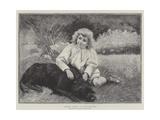 Comrades, Resting Giclée-tryk af Pierre Andre Brouillet