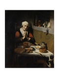 Old Woman Saying Grace, known as 'The Prayer Without End', C.1656 Giclée-tryk af Nicolaes Maes