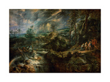 Landscape with Philemon and Baucis C.1625 Lámina giclée por Peter Paul Rubens