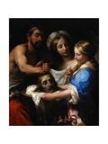 Salome with the Head of Saint John the Baptist, C.1680 Lámina giclée por Onorio Marinari