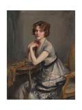 Portrait of Winnie Melville, Mrs, 1920 Giclée-tryk af Philip Alexius De Laszlo