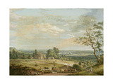 A Distant View of Maidstone, from Lower Bell Inn, Boxley Hill Stampa giclée di Paul Sandby