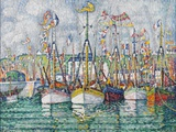 Blessing of the Tuna Fleet at Groix, 1923 Gicléetryck av Paul Signac