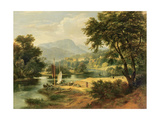 View of Clappersgate on the River Brathay Above Windermere Giclee Print by Ramsay Richard Reinagle