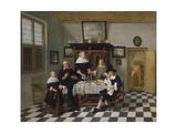 Family Group at Dinner Table, C.1658-60 Giclée-Druck von Quiringh Gerritsz. van Brekelenkam