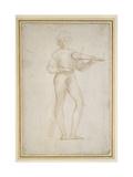 Study of a Young Man Making Music Reproduction procédé giclée par  Raphael