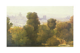 Paris Seen from the Heights of Belleville, C.1830 Giclee Print by Pierre Etienne Theodore Rousseau