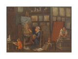 The Painter Giclee Print by Pietro Longhi