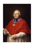 Etienne-René, Cardinal Potier De Gesvres, 1758 Giclée-tryk af Pompeo Girolamo Batoni