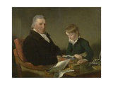 Francis Noel Clarke Mundy and His Grandson, William Mundy, 1809 Giclee Print by Ramsay Richard Reinagle