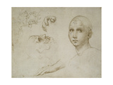 Studies for the Trinity of San Severo Reproduction procédé giclée par  Raphael