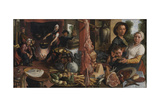 The Fat Kitchen, an Allegory, 1565-75 Giclée-Druck von Pieter Aertsen