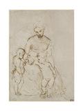 The Virgin and Child with St John Reproduction procédé giclée par  Raphael