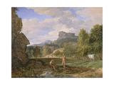 Mercury and Argus, 1793 Giclée-Druck von Pierre Henri de Valenciennes