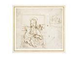 Study for a Picture of the Virgin and Child Reproduction procédé giclée par  Raphael