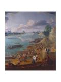 View of Paris from the Quai De La Rapee Impressão giclée por Pierre-Denis Martin