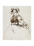 Study of a Seated Woman Giclee Print by Richard Parkes Bonington