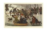 A Merry-Go-Round on the Ice Reproduction procédé giclée par Robert Barnes