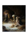 Threshing the Gleanings, 1899 Giclee Print by Ralph Hedley