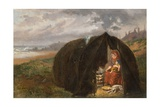 Gypsies Camped on the Beach, Near South Shields, 1876 Giclee Print by Ralph Hedley