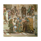 School of Athens, from the Stanza Della Segnatura, 1510-11 (Detail of 472) Reproduction procédé giclée par  Raphael