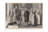 A Picturesque Wedding at Birmingham, Hospital Nurses as Bridesmaids at the Marriage of their Matron Reproduction procédé giclée par Robert Barnes