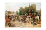 Proclaiming Stagshaw Fair at Corbridge Giclee Print by Ralph Hedley