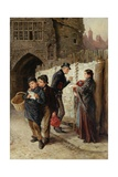 The Ballad Seller, the Black Gate, 1884 Giclee Print by Ralph Hedley