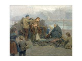 Paddy's Clothes Market, Sandgate, 1898 Giclee Print by Ralph Hedley