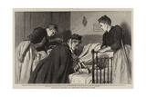 The Invalid Children's Aid Association, the Nurse at Work Reproduction procédé giclée par Robert Barnes