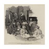 The Invalid Children's Aid Association, a Paralysed Family Reproduction procédé giclée par Robert Barnes