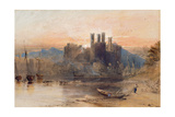 Caernarvon Castle, North Wales, 1836 (W/C, Gouache and Black Chalk on White Paper) Giclee Print by Samuel Palmer