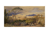 The Colosseum and Alban Mount (W/C and Gouache over Pencil, Chalk and Ink) Giclee Print by Samuel Palmer