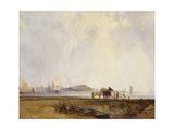 Landscape Near Quillebeuf, France, C.1824-25 Giclee Print by Richard Parkes Bonington