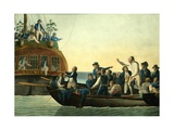 Mutineers Turning Lieutenant Bligh and Part of the Officers and Crew from His Majesty's Ship the Bo Giclee Print by Robert Dodd