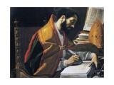 Saint Ambrose Giclée-tryk af Rutilio Manetti