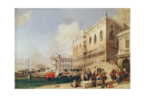 View of Venice. the Riva Degli Schiavoni and the Doge's Palace Giclee Print by Richard Parkes Bonington