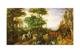 Orpheus Charming the Animals Giclée-tryk af Roelandt Jacobsz. Savery