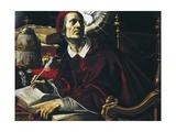 Saint Gregory Great Giclée-tryk af Rutilio Manetti